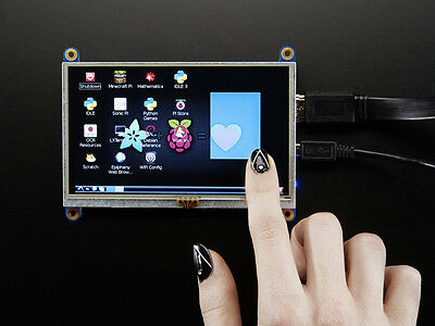 "Adafruit HDMI 5"" Inches 800x480 Display Screen LCD With Touchscreen Raspberry Pi"
