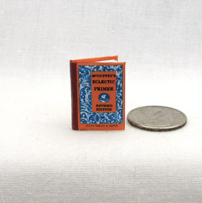 McGUFFEY PRIMER School Book Miniature Dollhouse 1:12 Scale Readable Illustrate