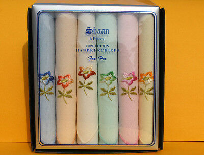 Multipack Womens/Ladies Handkerchiefs, Embroidered, Dyed, Satin Border, Initials