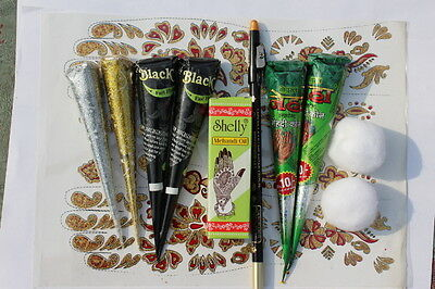 Henna kit: Body Art TemporaryTattoo event Fundraising Wedding Party FOR STARTERS