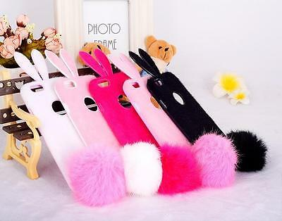 """Cute Bunny Girl Rabbit Ear Soft Case Back Cover For iPhone 6 4.7"""" / 5.5"""" Plus"""