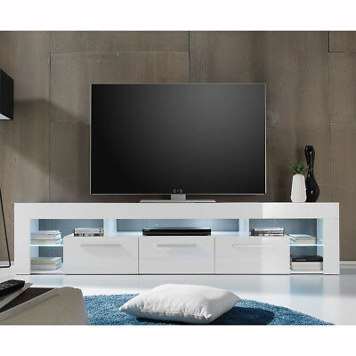 tv lowboard fernsehtisch wei hochglanz echt lack imola tv hifi unterteil 170 cm eur 214 99. Black Bedroom Furniture Sets. Home Design Ideas