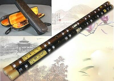 Professional Bitter Bamboo Flute Chinese Dizi Instrument 2 Sections  (D002)