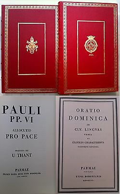 Bodoni-Pauli Vi Allocutio Pro Pace E Oratio Dominica In 115 Linguas-1967-L1457