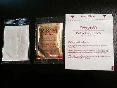 100PCS DreamMi GOLD Premium Detox Foot Patch Powder Pack+ Adhesive Plaster Tape