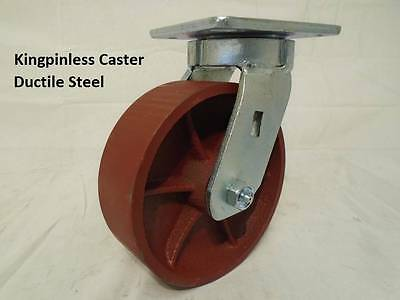 "6"" x 2"" Swivel Caster Kingpinless Ductile Steel Wheel 2000lb each"