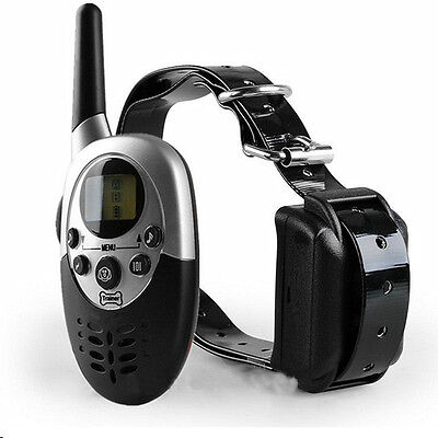 Waterproof Rechargeable 1000Yard Dog LCD Shock Vibra Training Collar with Remote