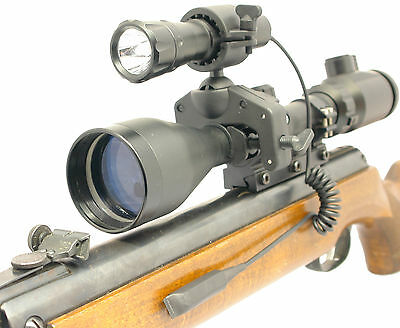 Clulite Torch & Mount Mg125 Led Torch Rechargeable Rifle Scope Gunlight  (Ch)