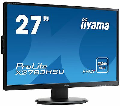 Iiyama Prolite X2783HSU-B1 27 inch LED Monitor - Full HD, 4ms, Speakers, HDMI