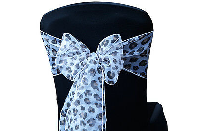 Leopard Print Organza Sashes / Table Runners Events Weddings