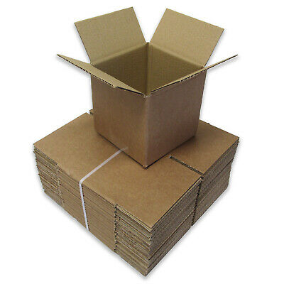 """5"""" Cubed Postal Mailing Cardboard Boxes 5x5x5"""" Single Walled - Multi Listing"""