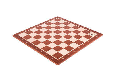 """USCF Sales Mahogany & Maple Wooden Tournament Chessboard – 2.25"""" With Notation &"""
