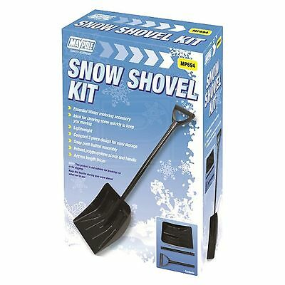 Snow Compact 3 Piece Emergency Snow Shovel / Spade - Car / Van / Truck - Single