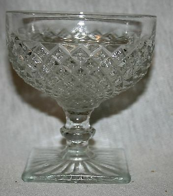 Vintage Anchor Hocking Miss America Depressio Glass Crystal Sherbet  7 Available