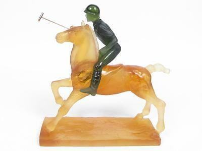 Limited Edition Daum Polo Player Crystal Figurine! A Collectors must have!