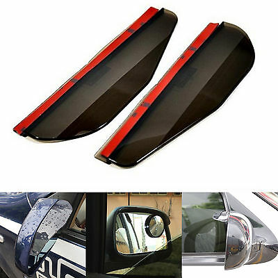 2 Pcs Black Rear Mirror Rain Board Eyebrow Visor Shield Water Guard For A3 Golf