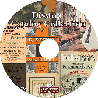 1875 to 1953 Disston Catalog Collection { Saws and Handtools } on DVD