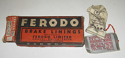 FERODO BRAKE LININGS  MR41 B4MO/26/1 NEW OLD STOCK CLASSIC VINTAGE BARN FIND