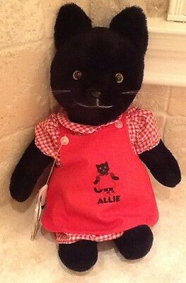 Vintage 1980 Allie Cat Stuffed Plush Animal Cat With Original Tag