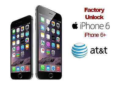 iPhone 6 & 6 Plus Factory Unlock, AT&T only. Unlock your iPhone in 24-48 hours!!