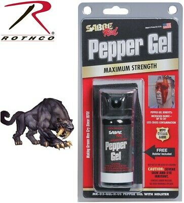 Mark III Pepper Spray Gel Mace Sabre Self Defense & Holster MK3 11015