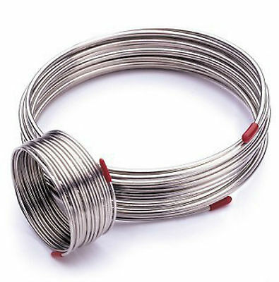 1m 304 Stainless Steel Hose Diameter 3mm,Trachea Gas Liquid Tube Coil #E9-51