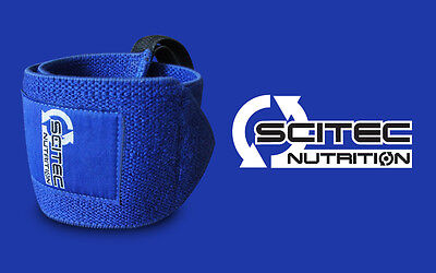 Scitec Nutrition Polsiere Polsi Palestra Body Building Stacchi Cross Fit Blu New