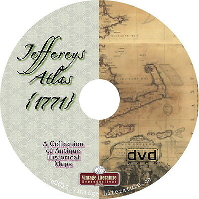 Jeffereys Atlas {Maps from 1771 ~ World History & Geography} on DVD