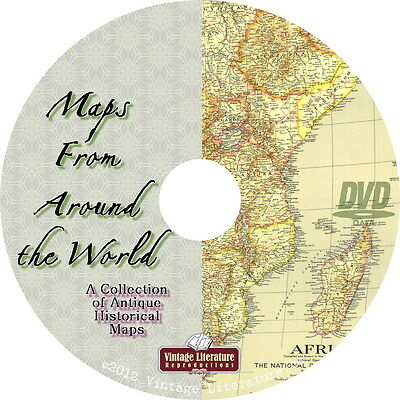 Maps From Around the World {Over 800 Images ~ World History} on DVD