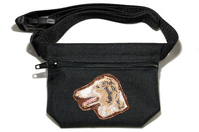 Embroidered Dog treat bag - for dog shows. Breed - Borzoi (Russian wolfhound)