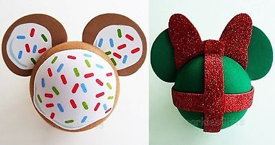Disney - Christmas - Mickey Cookie & Minnie Gift Antenna Toppers Lot of 2