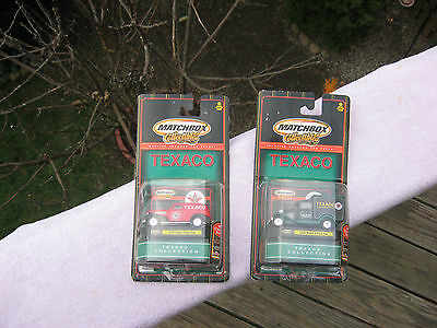 Lot Of 2 Matchbox Collectibles Texaco Die Cast Metal Trucks~New & Factory Sealed