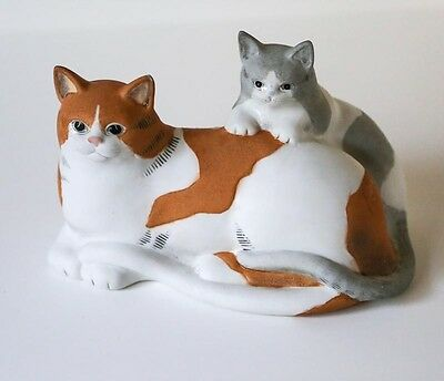 Porcelain cat duo by Mary Lake Thompson for Silvestri - Artistry for the Home
