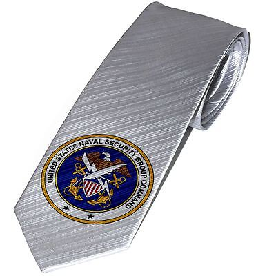 Necktie / Tie with U.S. Naval Security Group Command, obsolete insignia
