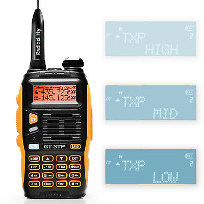 Baofeng GT-3TP MarkIII 1/4/8W 136-174/400-520MHz Ham Two-way Radio Transceiver