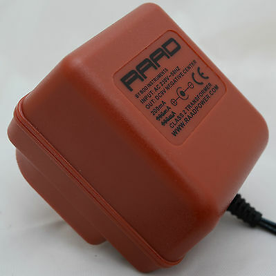RAAD power supply regulated DC 9V red adapter guitar effect pedal center neg