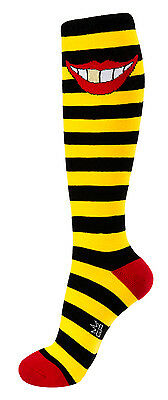 Gumball Poodle Knee High Socks - Gold Smile - Unisex
