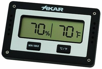 Xikar Hygrometer Digital Rectangle and Thermometer 833xi NEW