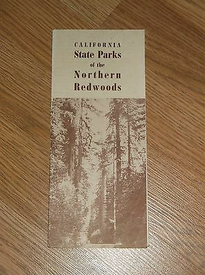 VINTAGE .CALIFORNIA STATE PARKS OF THE NORTHERN REDWOODS' FOLD-OUT BROCHURE
