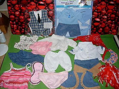 BABY DOLL /BEAR OUTFITS MIXED LOT (19 PC) ONE SIZE FITS MOST