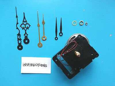 LONG SHAFT Non-Pendulum Seiko Dual Chime Quartz Clock Movement Kit w/Hands (127)