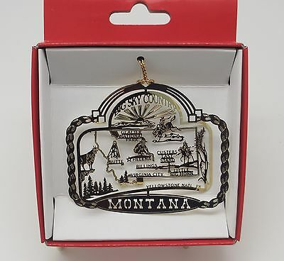Montana State ORNAMENT Big Sky Country Billings Helena Yellowstone Virginia City
