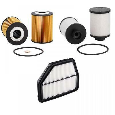 Service Air Oil Fuel Filter Kit fits Holden Captiva 2.0 Turbo Diesel