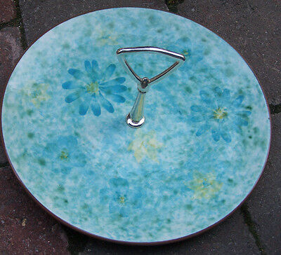 "Vintage STANGL Serving Dish ""Stardust"" Pattern Blue Daisy & Speckled"
