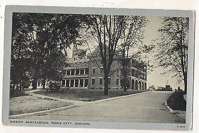 Kneipp Sanitarium, Sanitorium, ROME CITY IN, Vintage Indiana Postcard