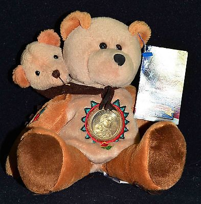 "2000 LIBERTY DOLLAR COIN Teddy Bear ""SACAGAWEA & POMP"" 8 1/2"" Tall"