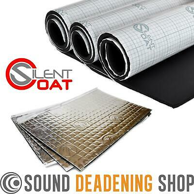 Silent Coat Hatchback Car Boot Sound Proofing Pack 2mm Mat Deadening Insulation
