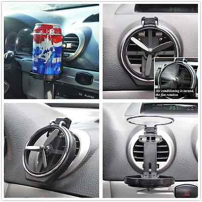 Vehicle Wind Air A/C Outlet Folding Cup Bracket Bottle Drink Holder For Audi A3