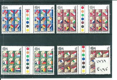 wbc. - GB - COMMEMS - 1979  EURO ASSEMBLY -GUTTER PAIRS -T/LIGHTS -UNM MINT SETS