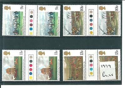 wbc. -  GB - COMMEMS - 1979 HORSE RACING- GUTTER PAIRS -T/ LIGHTS -UNM MINT SETS
